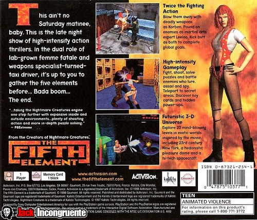 The Fifth Element PSone game