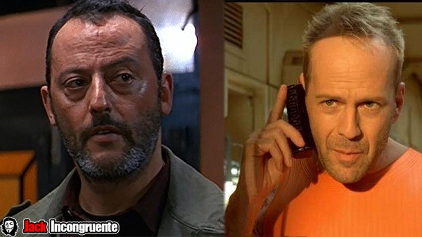 Bruce willis and Jean Reno
