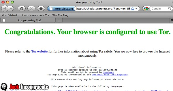 Tor in Apple MAC
