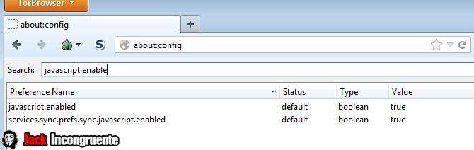 Tor javascript enable