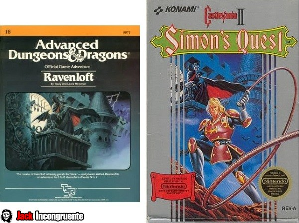 Castelvania e Advanced Dungeons & Dragons.