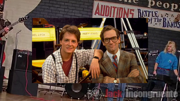 Huey Lewis you back the future
