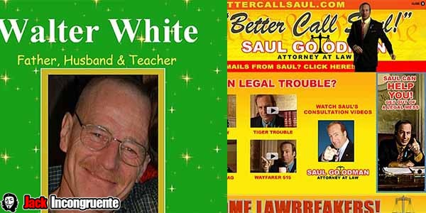 wallter white y Saul goodman