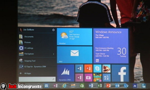 nuevo windows 10 menu