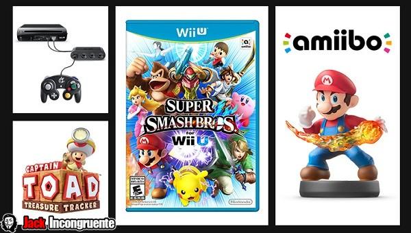super smash bros and Amiigo Wii U