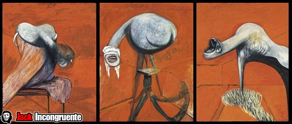 Alien Francis Bacon Tres estudios para figuras en la base de una crucifixión