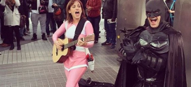 Pink power ranger Amy Jo Johnson