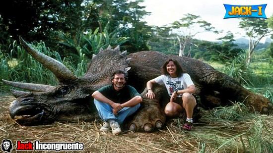 Jurassic triceratops Parque Spielberg 1993