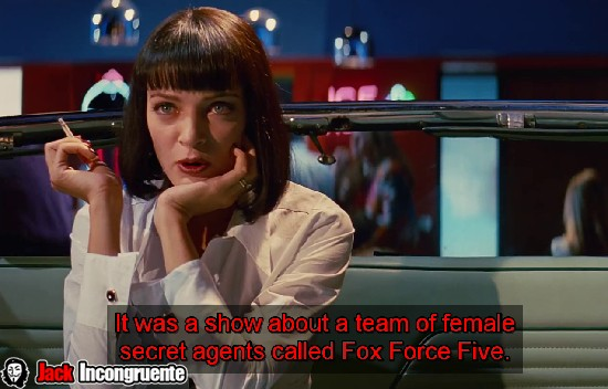 Kill bill pulp fiction Fox force five
