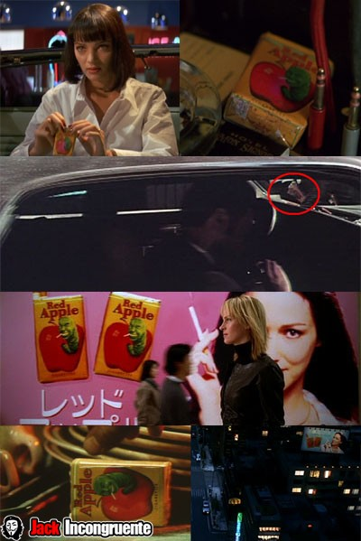 Kill Bill curiosities red-apple-tarantino
