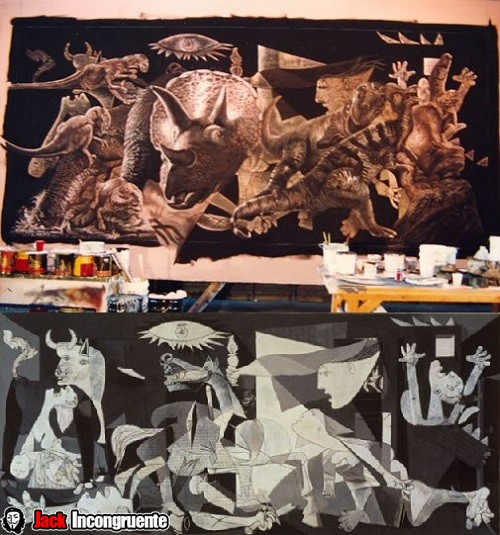 jurassic park box called pablo Picasso Guernica