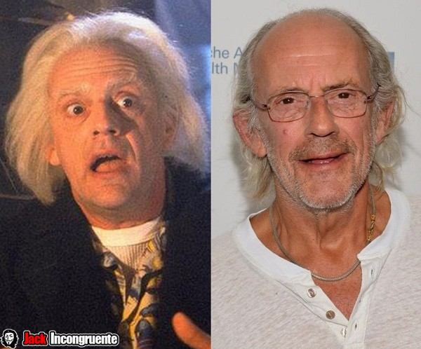 Christopher Lloyd Dr. Emmett Brown jako 2015