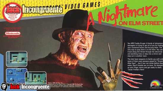 Nintendo videojuego de A nightmare on elm street