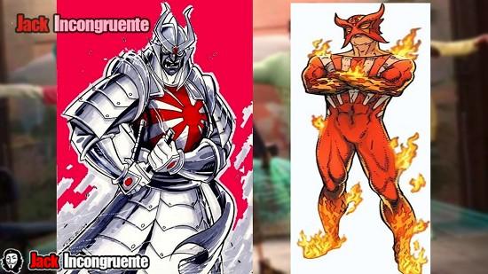 big hero 6 Sunfire y Silver Samurai