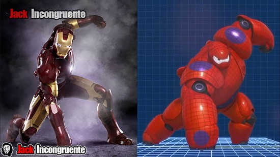 big hero 6 baymax y aironman
