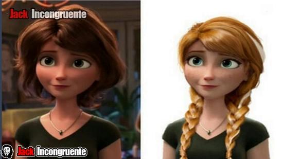 big hero 6 curiosidades tía Cass, es el mismo modelo desarrollado para el personaje de Anna