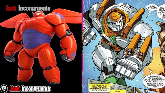 big hero 6 robot Baymax pelicula y comic