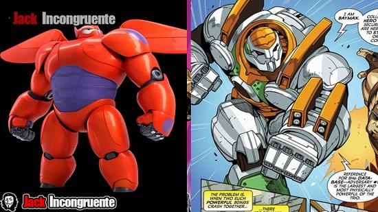 big hero 6 robot Baymax pelicula y comic