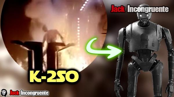 K-2SO es el primer androide que se suicida en una película de star wars.