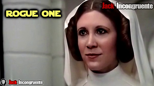 Rogue one Carrie Fisher en su papel de la Princesa Leia, generada por computadora CGI