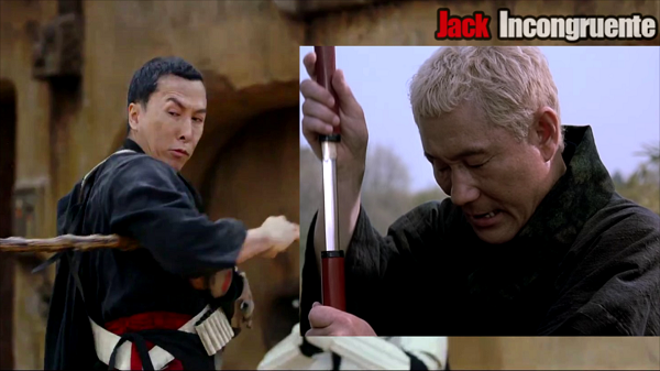 Rogue one Chirrut is based on Zatoichi, main character of a samurai film.