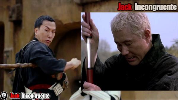 Rogue one Chirrut se basa en Zatoichi, personaje principal de una película de samuráis.