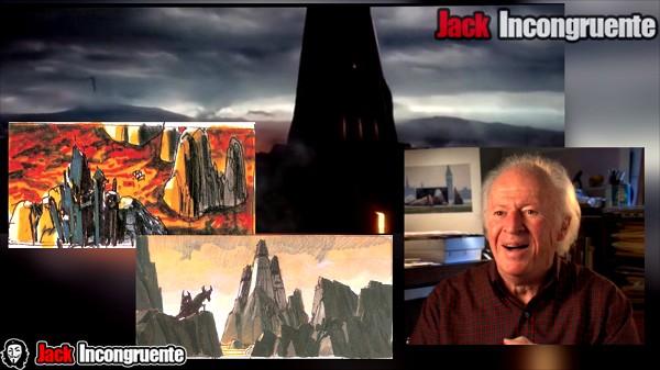Rogue one fortaleza de Darth Vader basado en los diseños no utilizados de Ralph McQuarrie.