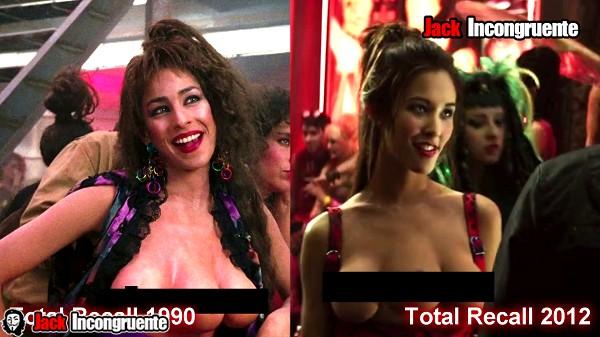 Total recall chica de tres pechos 1990 y 2012 Mary Lycia Naff Kaitlyn Leeb