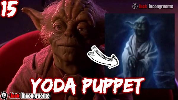 curiosidades de star wars 8 el maestro yoda es mostrado como marioneta y no realizado en CGI