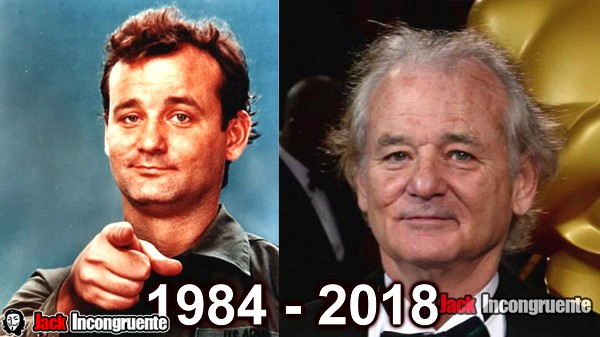 cazafantasmas antes y despues 2018 Bill Murray Dr. Peter Venkman
