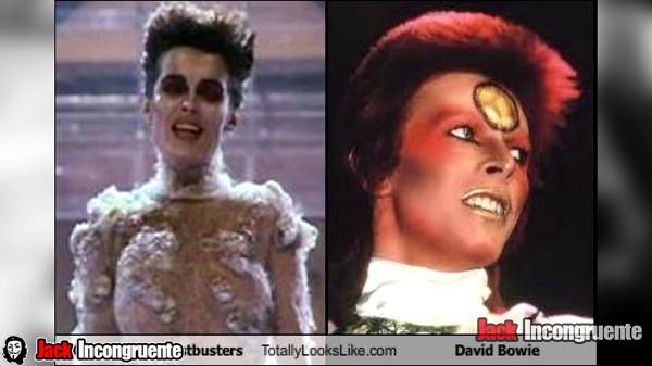pelicula cazafantasmas gozer esta basado en los atuendos del cantante David Bowie