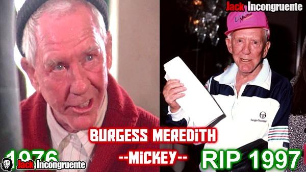 antes y despues pelicula rocky 2018 mickey Burgess Meredith