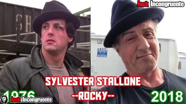 antes y despues pelicula rocky 2018 rocky Sylvester Stallone