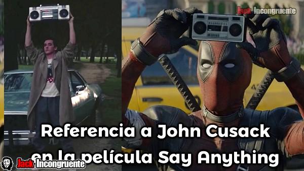 pelicula-deadpool-2-escena-de-la-grabadodra radio referencia a John Cusack Say Anything