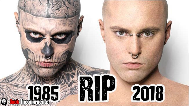 Hallan muerto al modelo y artista Zombie Boy
