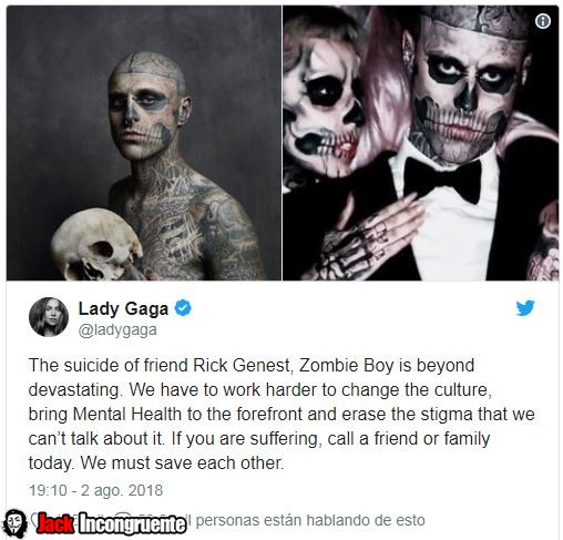 'Zombie Boy' El modelo tatuado, se suicida a los 32 años laydy gaga