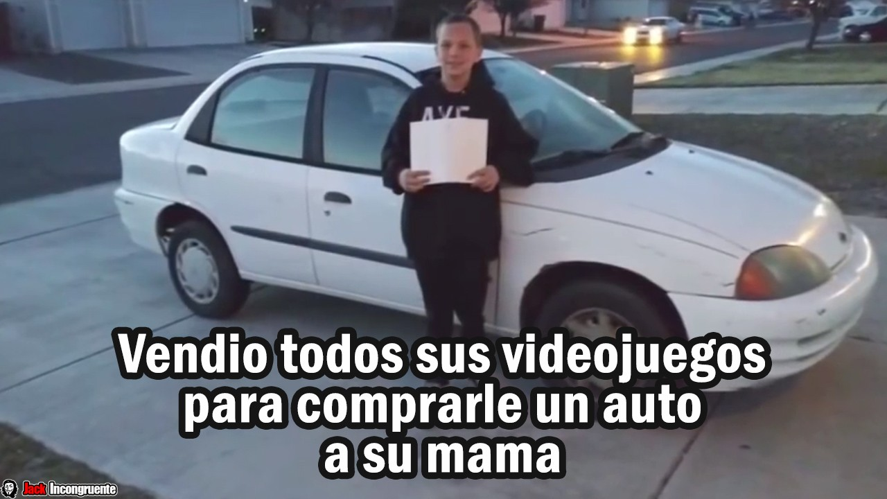 Vendio todos sus videojuegos para comprarle un auto a su mama