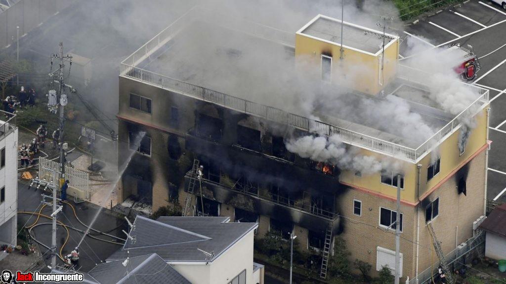 Incendio en estudio Kyoto Animation de Japón 23 muertos 40 heridos