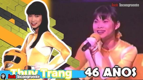 yellow power ranger Actualmente Thuy Trang cumpliría 46 años de edad