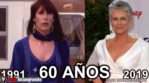 The before and after Shelly DeVoto is to say actress Jamie Lee Curtis is now 60 years old.