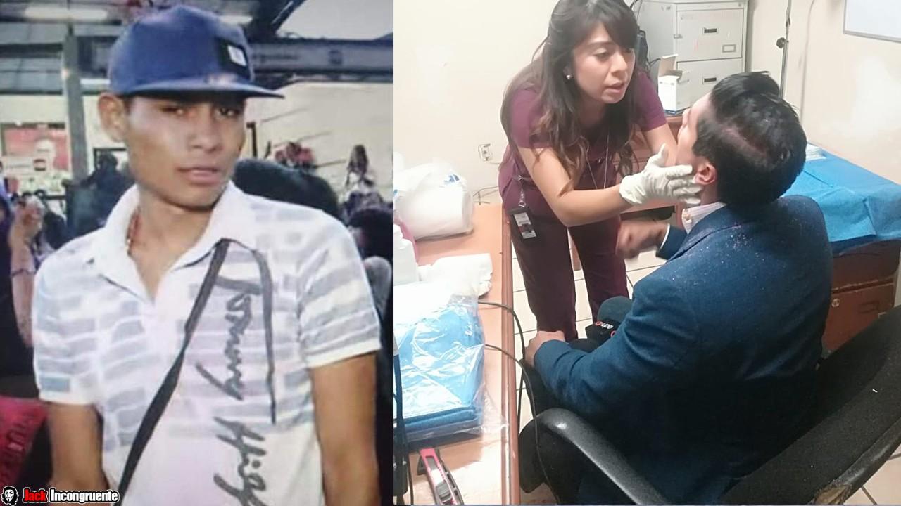 El reportero de ADN40 Juan Manuel Jiménez y levanta una denuncia