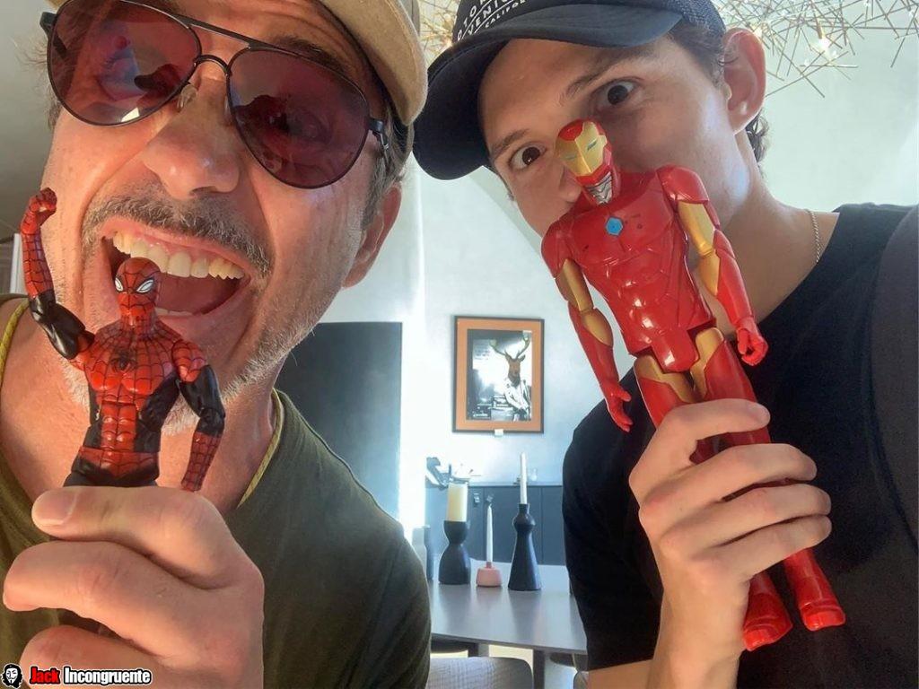 Tom Holland y Robert Downey Jr