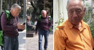 Francisco Sánchez el abuelito de 75años y repartidor de UberEats