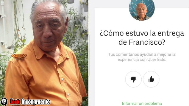 UberEat francisco sanchez abuelito