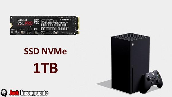 Xbox Series X disco solidos ultra rápidos SSD NVMe de 1Terabyte